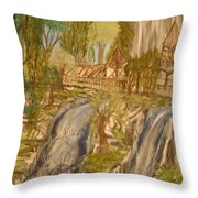 Living With Water Throw Pillow