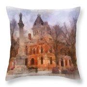 Livingston County War Memorial 01 Photo Art Throw Pillow