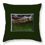 Livingston Manor Covered Bridge - Featured In Comfortable Art Group Throw Pillow