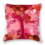 Liz Dixon's Tree Red Throw Pillow
