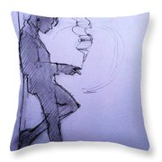 Liz Waiting Throw Pillow