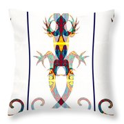 Lizard Love An Abstract Reptilian Adventure Throw Pillow