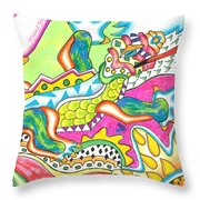 Ioli - Lizard Throw Pillow