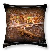 Lizard On The Loose Throw Pillow
