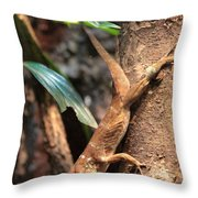 Lizard On The Tree Throw Pillow