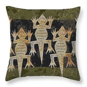 Lizards On The Wall Throw Pillow