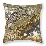 Lizards Spring Dance Throw Pillow