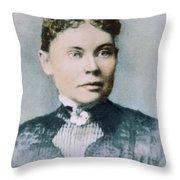 Lizzie Andrew Borden (1860-1927) Throw Pillow