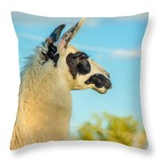 Llama Profile Throw Pillow