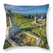 Llanbadrig Cemetery Throw Pillow