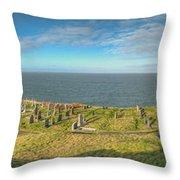 Llanbadrig Church Panorama Throw Pillow