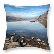 Llanberis Lake Throw Pillow by Adrian Evans