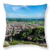 Llandudno Panorama Throw Pillow