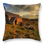 Llangelynnin Church Conwy Throw Pillow