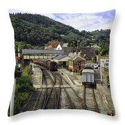 Llangollen Railway Station Throw Pillow
