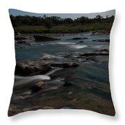 Llano River 2am-105143 Throw Pillow