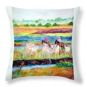 llanos Cowboys Throw Pillow