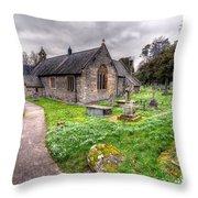 Llantysilio Church Throw Pillow by Adrian Evans