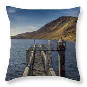 Llyn Cowlyd Reservoir Throw Pillow