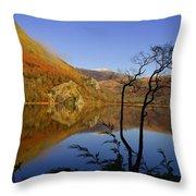 Llyn Gwynant Is A Lake In Snowdonia  Wales Throw Pillow