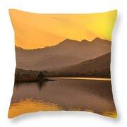 Llynnau Mymbyr Snowdon In The Distance  Throw Pillow