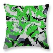 Lime Verve Throw Pillow