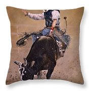 Load Of Bull Throw Pillow