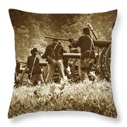 Loading A Charge - Toned Throw Pillow