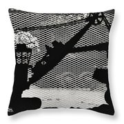 Loading The Truck Throw Pillow