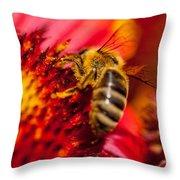 Loads Of Bee Pollen Throw Pillow
