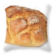 Loaf Of Bread On White Throw Pillow