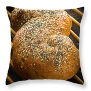 Loaf Of Fresh Baked Bread Throw Pillow