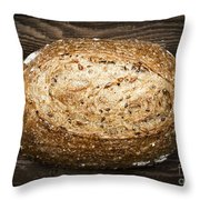 Loaf Of Multigrain Artisan Bread Throw Pillow