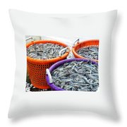Loaves And Fishes Throw Pillow