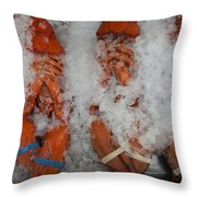 Lobster At Woodman's Throw Pillow