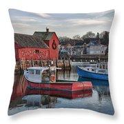 Lobster Boats At Motif 1 Throw Pillow