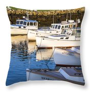 Lobster Boats - Perkins Cove -maine Throw Pillow