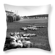 Lobster Buoys 13 Throw Pillow