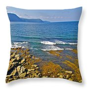 Lobster Cove In Rocky Harbour-nl Throw Pillow