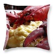 Lobster Dinner Throw Pillow