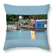 Lobster Fishing Days End Throw Pillow