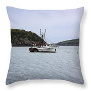 Lobster Fishing  Throw Pillow