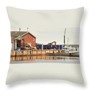 Lobster Fishing Processing Throw Pillow