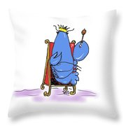 Lobster King Blue-blooded Crustacean Throw Pillow