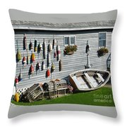 Lobster Pots And Buoys Throw Pillow
