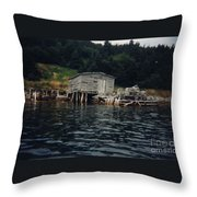 Lobster Pots And Old Stage Throw Pillow