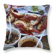 Lobster Puerto Nuevo Style Throw Pillow