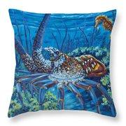 Lobster Season Throw Pillow