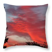 Lobster Sky Throw Pillow