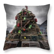 Lobster Trap Tree Throw Pillow by Eric Gendron